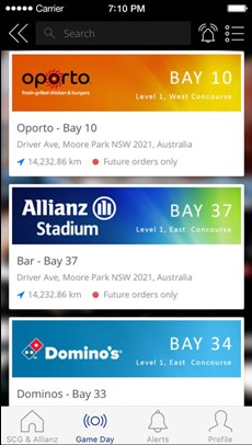 SCG & Allianz Stadium App