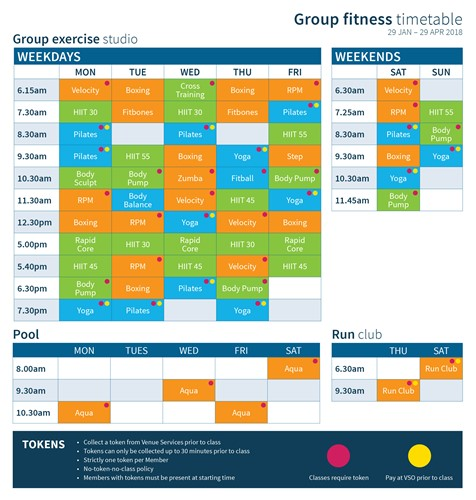Group Fitness Timetable Jan-Apr