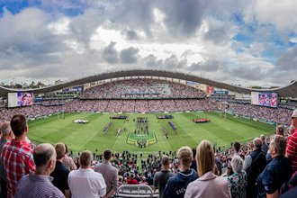 Record crowd attends Anzac Day match