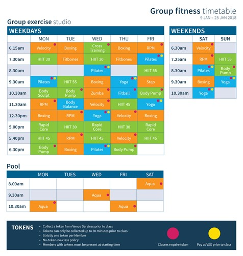 Group Fitness Timetable January 2018