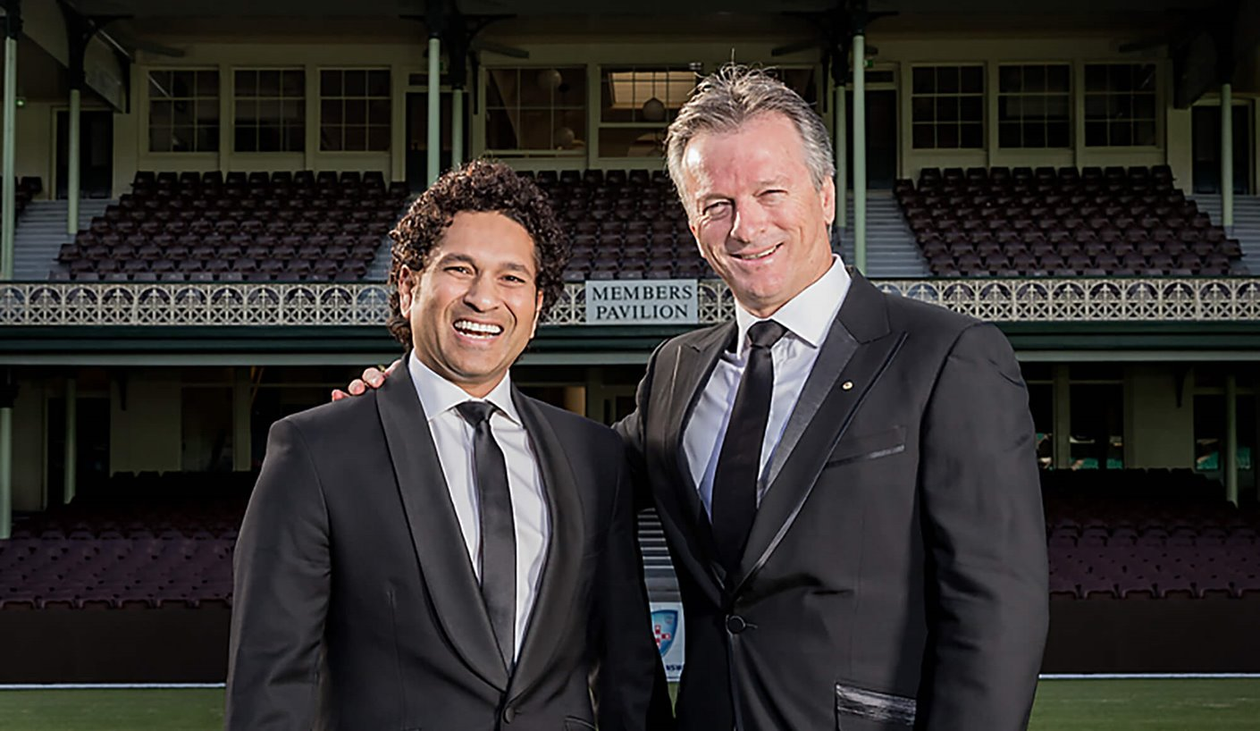 Sachin Tendulkar and Steve Waugh