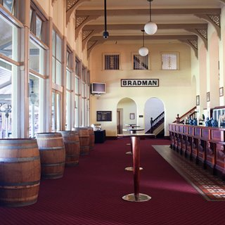 The famous Long Bar in the SCG Members Pavilion