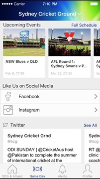 SCG and Allianz Stadium App