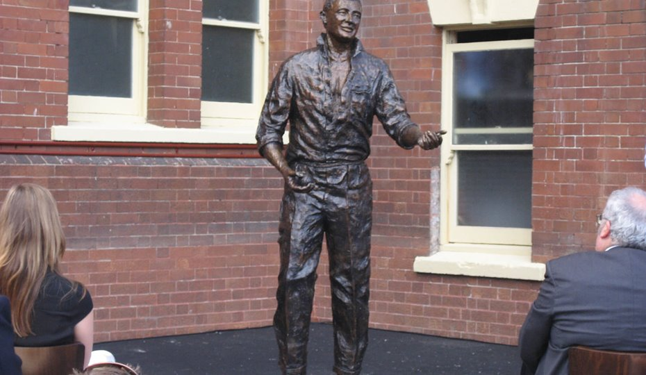 The Richie Benaud sculpture unveilling